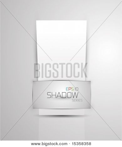 Promotional vector paper background. Eps10 vector shadow series