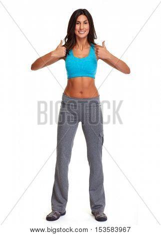 Happy athletic girl.