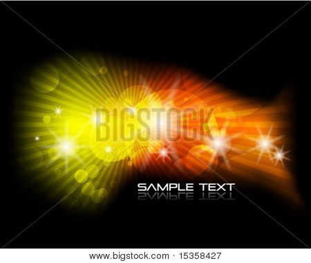 Blurred colored spots. Vector spacy background