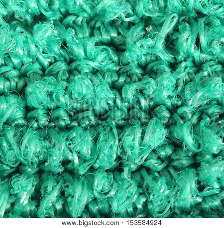 Close up green background texture plastic cloth