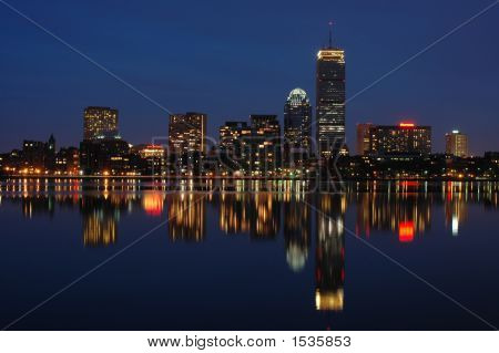 Skyline de Boston à noite