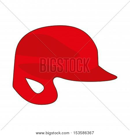 baseball helmet icon image vector illustration design