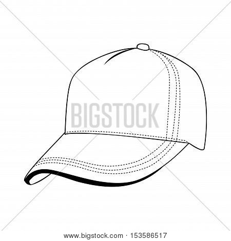 baseball cap icon image vector illustration design