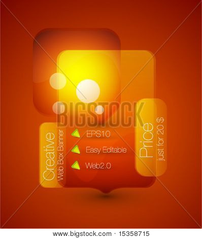 Transparent glass web box