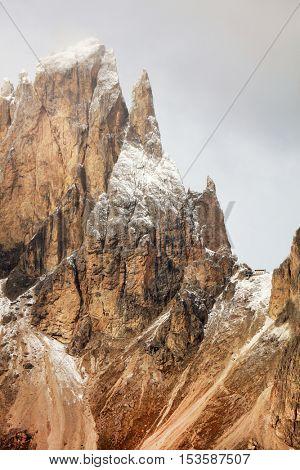 Image of Sassolungo, South Tirol, Dolomites Mountains, Italy, Europe