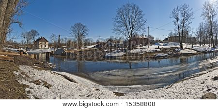 River: snow, ice and mud