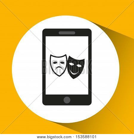 woman character theatrical mask design vector illustration eps 10
