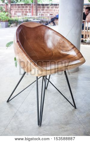 Wooden chair isolated on white background, stock photo