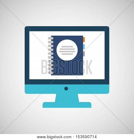 technology monitor icon directory isolated vector illustration eps 10