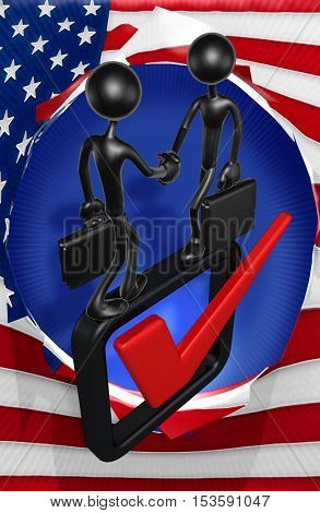 Vote Voting Choice Elect Election Concept With The Original 3D Character Illustration