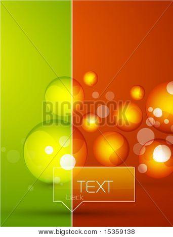 Fondo de formas de cristal de Vector
