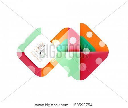 Square banner geometric template,