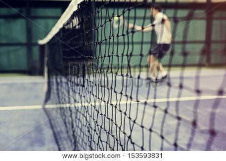 Tennis Sport Racquet Athlete Match Concept