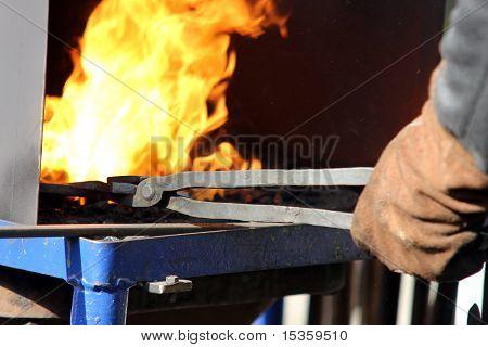 Hot iron forge