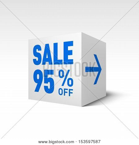 Cube Banner Template. Ninety-five Percent off Discount
