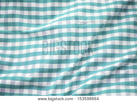 Green Checkered Tablecloth Decoration Concept
