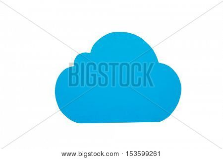 Close-up of cloud symbol against white background