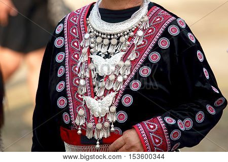 Costume of the tribe. Northern Thailand.Annual festival held every November.