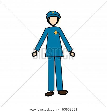 police officer icon image vector illustration design