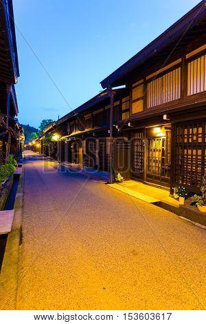 Old Town Takayama Wooden Homes Dusk V