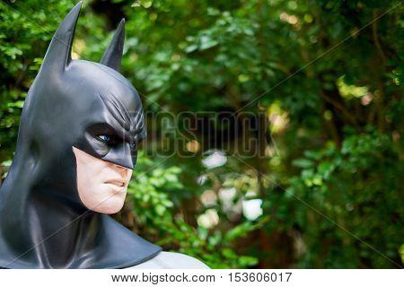 Chiang Mai Thailand - Oct 13 : Close up Batman model in The Garden on October 13 2016 in Chiang Mai Thailand