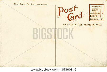 Vintage blank postcard