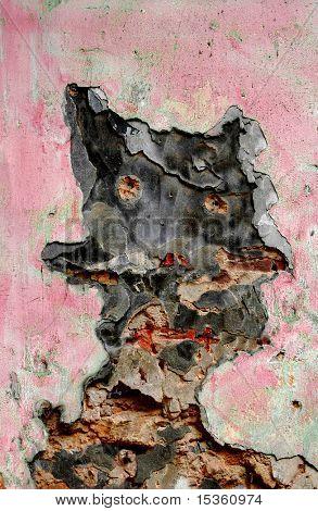 Decaimiento de la pared - que forma de diablo