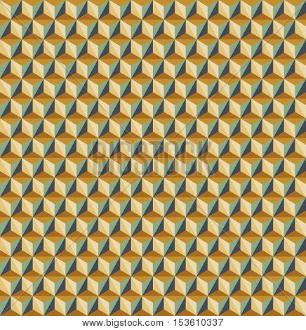Vector seamless abstract triangles pattern in green and orange