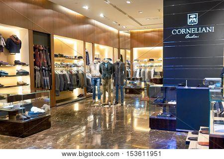 DUBAI, UAE - 15 OCTOBER, 2014: interior of a store at the Dubai Mall. The Dubai Mall is a shopping mall in Dubai, United Arab Emirates.