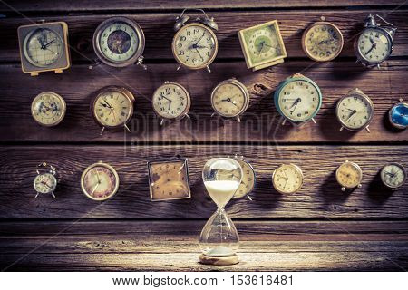 Hourglass As The Old Way Of Timing