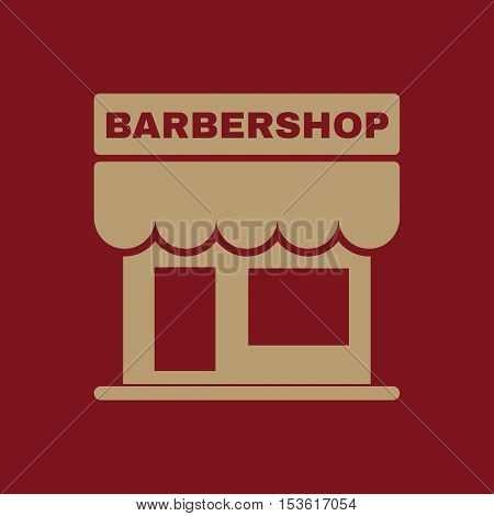 The barbershop building icon. Barbershop symbol. Flat Vector illustration