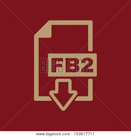 The FB2 icon. File format symbol. Flat Vector illustration. Button