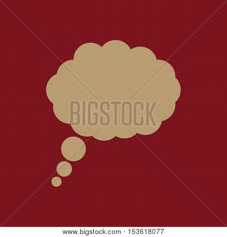 The speech bubble icon. Talk symbol. Flat Vector illustration