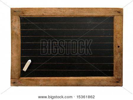 Pizarra de la escuela vintage con líneas y tiza