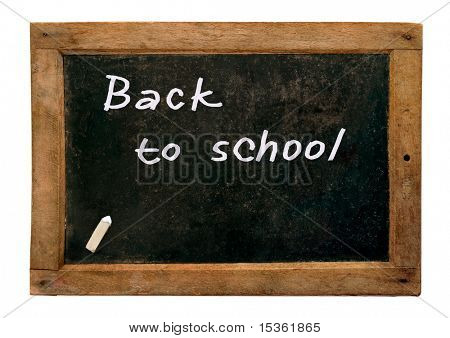 Retro school blackboard and chalk