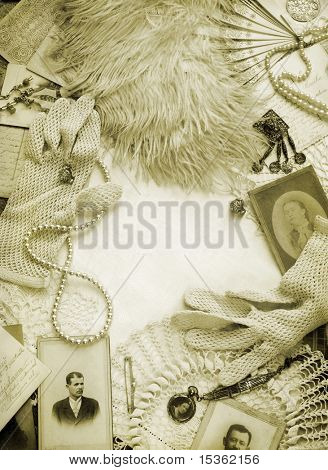 Sepia toned vintage background