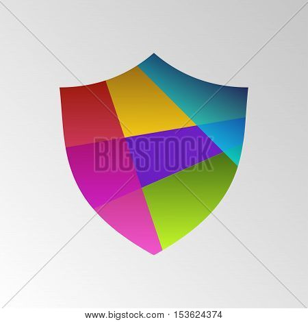 Protection shield concept. Shield logo business icon