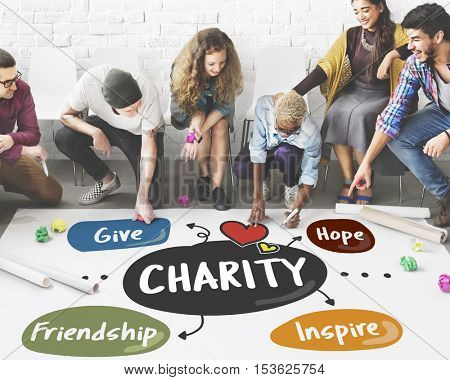 Charity Give Assistance Care Volunteer Support Concept