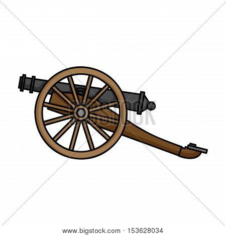 Cannon icon in cartoon style isolated on white background. Museum symbol vector illustration.