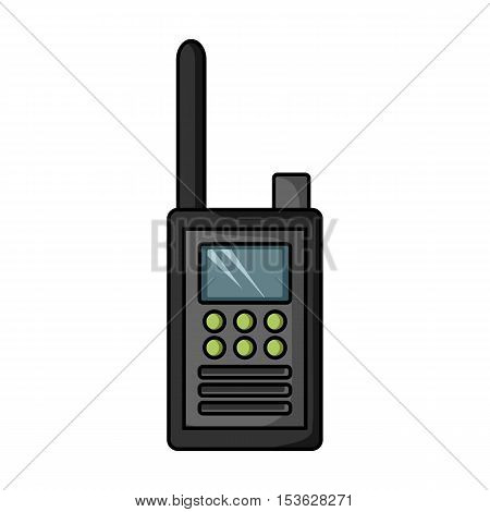 Handheld transceiver icon in cartoon style isolated on white background. Museum symbol vector illustration.
