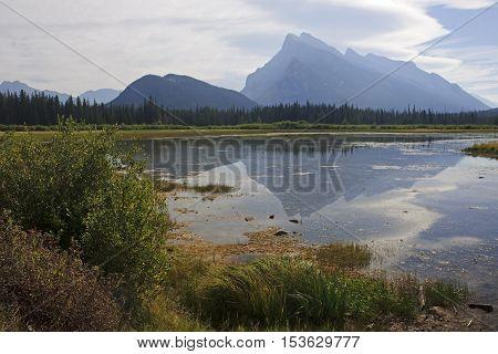 Rocky Mountain - View Of The Vermilion Lake Near Banff
