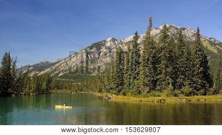 Mountain Landscape In The Rocky Mountain Region Of Banff