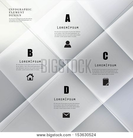 Modern origami banner infographic elements.Can used for diagram,workflow, layout,web design,presentation business concept,timeline
