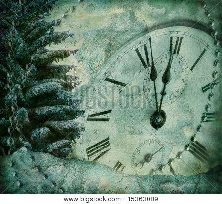 Grunge image of New Years Eve