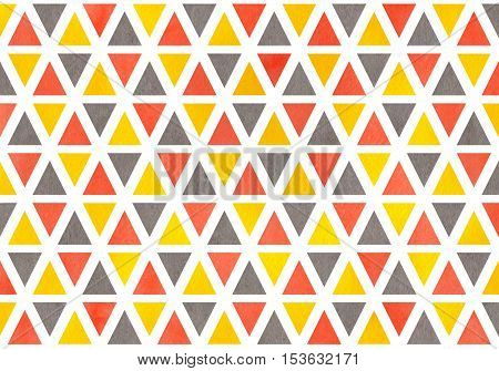 Watercolor Triangle Pattern.