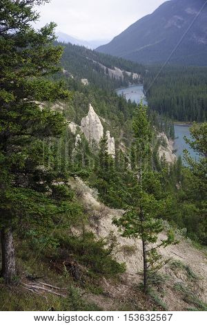 Rocky Mountain - View Of The Rock Formation Hoodoos In And Aroun