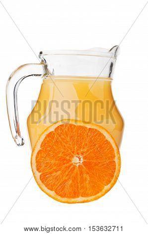 Fresh Orange Fruit And Juice