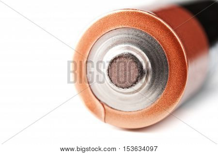 closeup of battery isolated on a white background