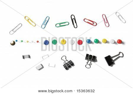 Collection of stationary isolated on white