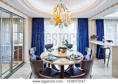 decoration and design of modern dining room